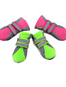 Cat Dog Shoes & Boots Waterproof Solid Green Pink For Pets