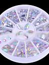 Oval Nail Art Crystal Acrylic Rhinestones Glittery Fake Diamond for Nail Design