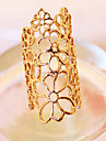 Ring Adjustable Party Jewelry Alloy Women Statement Rings 1pc,One Size Gold