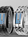 Homme Montre Bracelet Montre numerique Numerique LED Etanche Alliage Bande Luxe Noir Argent