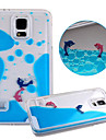 Case For Samsung Galaxy Samsung Galaxy Case Flowing Liquid Back Cover Cartoon PC for S5
