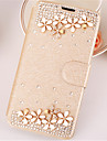 For Samsung Galaxy Case Rhinestone / with Stand / Flip / Magnetic Case Full Body Case Flower PU Leather for SamsungA7(2016) / A5(2016) /