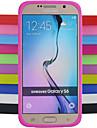 Pour Samsung Galaxy Coque Antichoc Coque Coque Arriere Coque Couleur Pleine Silicone pour Samsung S6