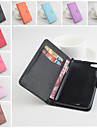 For Wiko Case Wallet / Card Holder / with Stand / Flip / Magnetic Case Full Body Case Solid Color Hard PU Leather Wiko