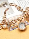 아가씨들 패션 시계 팔찌 시계 모조 다이아몬드 시계 모조 다이아몬드 석영 스테인레스 스틸 밴드 우아한 실버 골드 로즈 골드