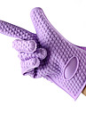 1PCS Silicone Oven Mitts Insulated Gloves Baking Tools (Random Color)