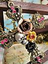 여성 팬던트 목걸이 Flower Shape Cross Shape Skull shape 로즈 합금 의상 보석 보석류 제품 Halloween