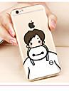 Pour Coque iPhone 6 Coques iPhone 6 Plus Transparente Motif Coque Coque Arrière Coque Dessin Animé Flexible PUT pouriPhone 6s Plus iPhone
