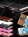 Genuine Leather Wallet Case Card Holders for iPhone 5/5S(Assorted colors)