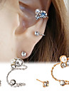 Boucles d\'oreille goujon Poignets oreille Agate Imitation Diamant Alliage Bijoux Pour Soiree Quotidien 1pc