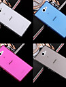 For Sony Case / Xperia Z3 Ultra-thin / Transparent Case Back Cover Case Solid Color Soft TPU for SonySony Xperia Z3 / Sony Xperia M2 /