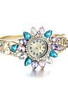 Elegant Golden Quartz Watch OL Women\'s Cuff Bangle Watch Cool Watches Unique Watches Fashion Watch