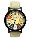 여성용 스포츠 시계 패션 시계 석영 PU 밴드 스파클 블랙