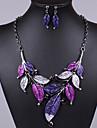 Femme Ensemble de bijoux Boucles d\'oreille Colliers decoratif - Retro Soiree Mode Style Simple Violet Bleu Set de Bijoux Pour Soiree