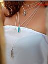 Женский Мода европейский Ожерелья с подвесками Искусственный жемчуг Драгоценный камень Сплав Ожерелья с подвесками , Повседневные