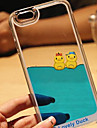 Funny Design Fluid Liquid Flowing Yellow Duck Crystal Clear PC Case Cover for iPhone 7 7 Plus 6s 6 Plus