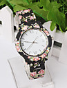 Women Deluxe Silicone Strap Flower Style Jelly Sports Analog Quartz Wrist Watch Cool Watches Unique Watches Fashion Watch
