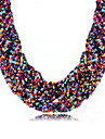 Women\'s Rhinestone Choker Necklace  -  Bohemian Fashion Green Pink Rainbow Necklace For Daily Casual