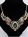 Жен. форма Роскошь Фольклорный стиль европейский Ожерелья с подвесками Синтетические драгоценные камни Сплав Ожерелья с подвесками