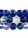 beadia 39cm / STR (약 39pcs) 자연 수박 푸른 석영 10mm 라운드 블루 스톤 느슨한 비즈 DIY 액세서리