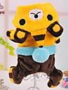 Gato Cachorro Camisola com Capuz Macacao Roupas para Caes Fofo Casual Desenhos Animados Amarelo Rosa Azul Ocasioes Especiais Para animais