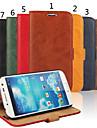 Coque Pour Samsung Galaxy Samsung Galaxy Coque Porte Carte Portefeuille Avec Support Clapet Coque Integrale Couleur unie Cuir veritable