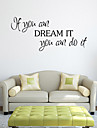 Cartoon Words & Quotes Wall Stickers Plane Wall Stickers Decorative Wall Stickers, PVC Home Decoration Wall Decal Wall
