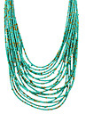 Women\'s Beads Beaded Necklace Ladies Fashion Coffee Red Green Necklace Jewelry For Party Daily Casual