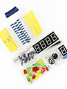 Universal DIY Components Kit Set for Arduino - Black + Blue + Multicolor