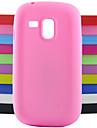Capinha Para Samsung Galaxy Samsung Galaxy Capinhas Antichoque Capa traseira Cor Solida Silicone para S3 Mini