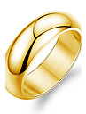 Men\'s Band Ring - Titanium Steel, Gold Plated Fashion 7 / 8 / 9 White / Golden For Wedding / Party / Daily