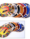 5 cores 4m / lot (volume) tomada de carro diy interior de ar condicionado ventilacao decoracao cromada tira styling
