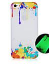 le motif de peinture lumineuse cas de téléphone couverture arrière cas pour iphone5c