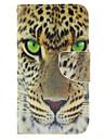 Para Samsung Galaxy Capinhas Carteira / Porta-Cartao / Com Suporte / Flip Capinha Corpo Inteiro Capinha Animal Couro PU Samsung S5 Mini