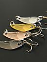 4 штук Рыболовная приманка Ложки Металл Морское рыболовство Обычная рыбалка