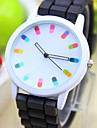 Quartz Wrist Watch Casual Watch PU Band Charm Fashion Black White Blue Red Orange Green Pink Purple Yellow
