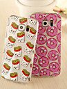 Interesting Cartoon Moving Eyes Acrylic Shell Fruit Chips for Samsung Galaxy S6