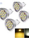 6W GU10 Точечное LED освещение MR16 15 светодиоды SMD 5630 Декоративная Тёплый белый Холодный белый 450-500lm 3000/6000K AC 85-265V