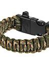 extérieure polyvalente survie paracord bracelet avec allume-feu et un sifflet de sécurité
