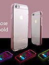 Para Capinha iPhone 6 / Capinha iPhone 6 Plus Luz de LED / Transparente Capinha Capa Traseira Capinha Cor Unica Macia TPUiPhone 6s Plus/6