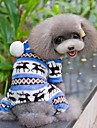 Dog Jumpsuit / Pajamas Dog Clothes Snowflake Brown / Red / Blue Polar Fleece Costume For Pets Men's / Women's Casual / Daily