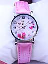 Children's Pattern Dial PU Band Quartz Cute Cartoon Wrist Watch Cool Watches Unique Watches Fashion Watch