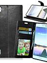 풀 바디 지갑 / 카드 홀더 / 스탠드 한색상 인조 가죽 하드 케이스 커버를 들어 HuaweiHuawei P8 / Huawei P8 Lite / Huawei P7 / Huawei Y550 / Huawei Honor 6 Plus / Huawei