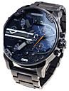สำหรับผู้ชาย นาฬิกาทหาร นาฬิกาข้อมือ นาฬิกาข้อมือสแตนเลส ดำ ปฏิทิน แสดงสองเวลา เท่ห์ ระบบอนาล็อก ความหรูหรา คลาสสิก วินเทจ ไม่เป็นทางการ - ฟ้า สีเทา สีทอง-ดำ สองปี อายุการใช้งานแบตเตอรี่