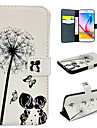 For Samsung Galaxy Case Card Holder / Wallet / with Stand / Flip Case Full Body Case Dandelion PU Leather SamsungS6 edge plus / S6 edge /
