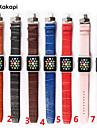 시계 밴드 용 Apple Watch Series 3 / 2 / 1 Apple 나비 버클 천연 가죽 손목 스트랩
