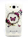 Butterfly Pattern TPU Relief Back Cover Case for Galaxy J5 Galaxy J Series Cases / Covers