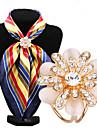 moda diamante inlay opala flor lenco fivela