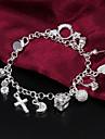 Feminino Pulseiras em Correntes e Ligacoes bijuterias Prata de Lei Joias Para Casamento Festa Casual Presentes de Natal