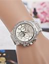 아가씨들 드레스 시계 패션 시계 손목 시계 모조 다이아몬드 석영 합금 밴드 골드
